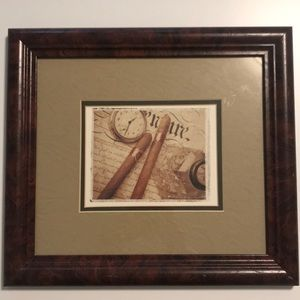 Frame Antique Looking Print Artwork
